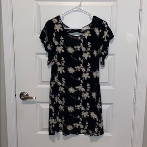 Altar'd state flowery print black and white dress